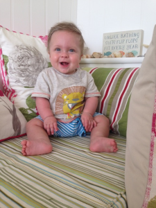 Lewis aged  9.5 months - 7.5 months old corrected
